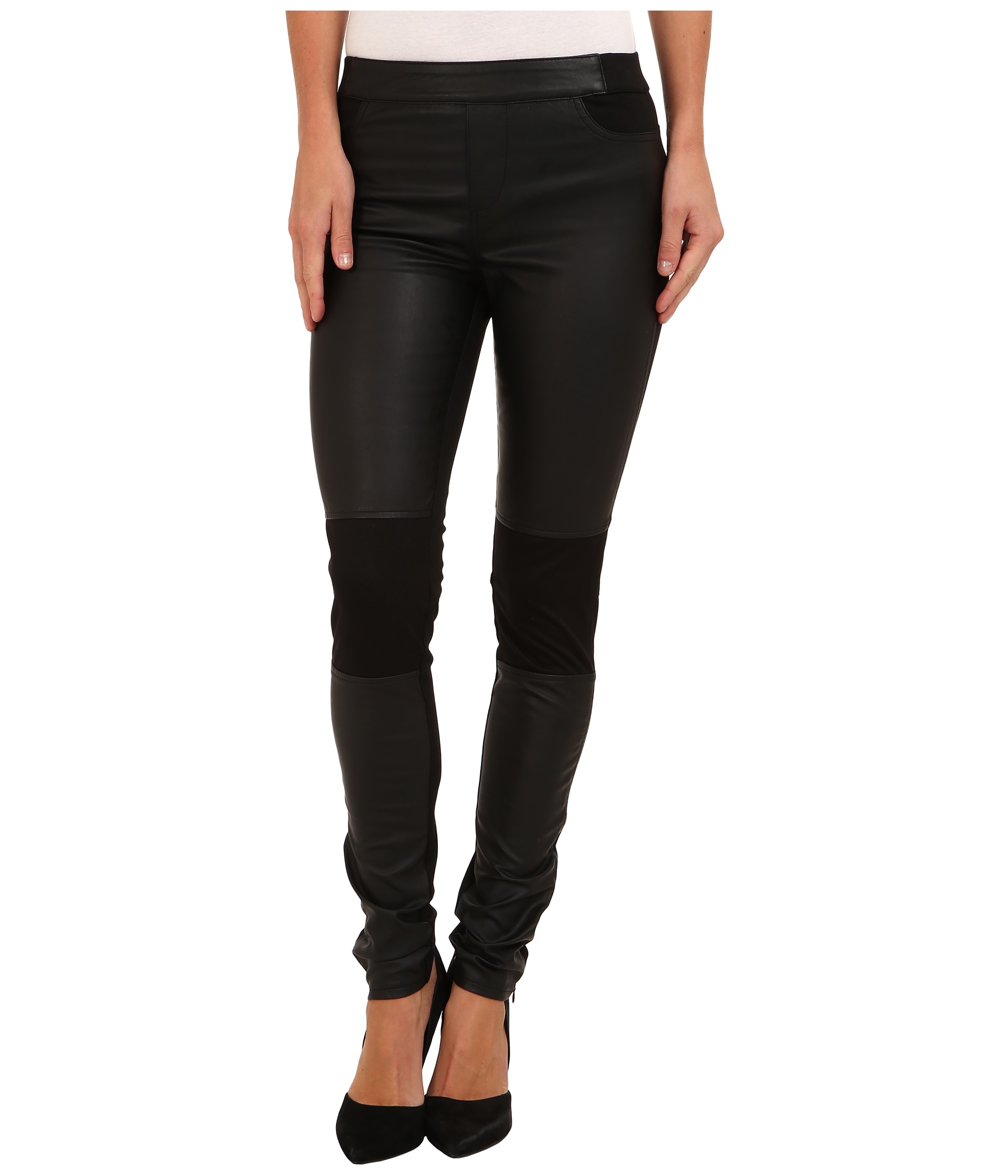 calvin klein jeans panelled texture legging black shipped free at zappos. Black Bedroom Furniture Sets. Home Design Ideas