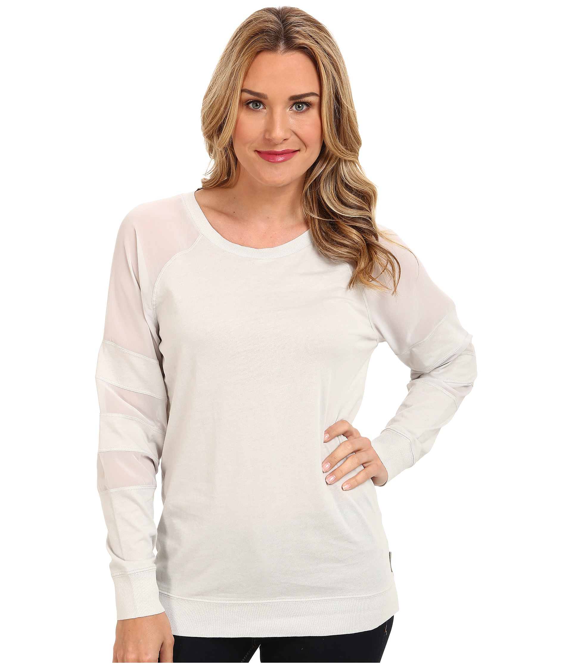 Calvin Klein Jeans Sheer Mix Sweat Top $29.99 (54% off MSRP $65.00