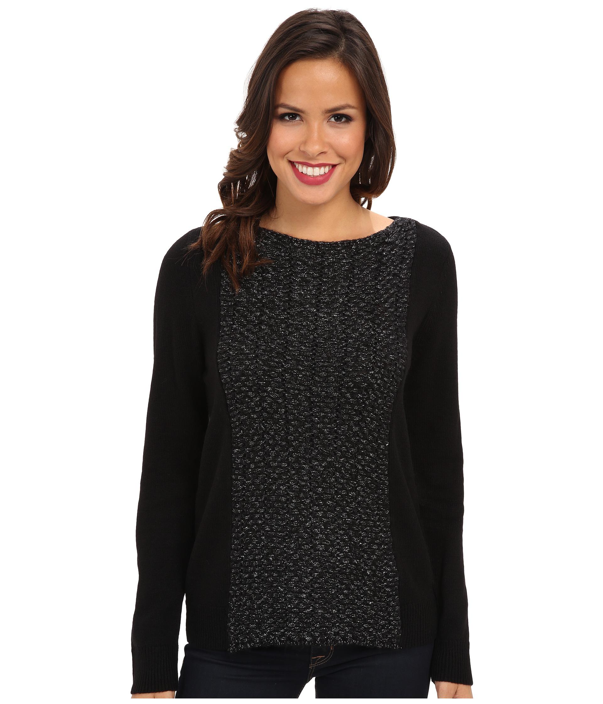 calvin klein jeans lurex mix media sweater shipped free. Black Bedroom Furniture Sets. Home Design Ideas