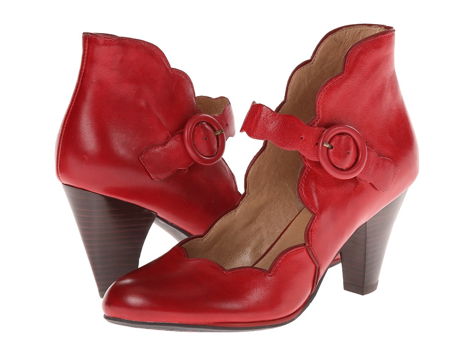 Miz Mooz - Carissa Red Womens Maryjane Shoes $139.95 AT vintagedancer.com