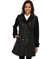 MICHAEL Michael Kors - Double Breasted Two-Tone Plaid Trench