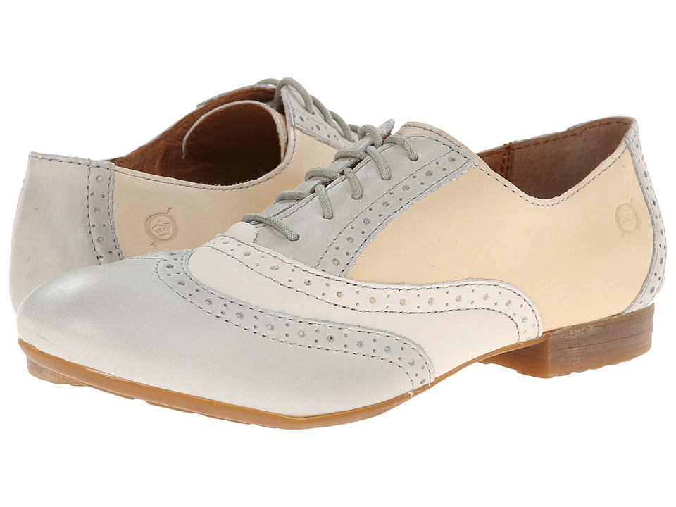 Born Bristol (Cristal (Light Grey)/Latte (Cream)/Powder (Bone)) Women's Lace up casual Shoes