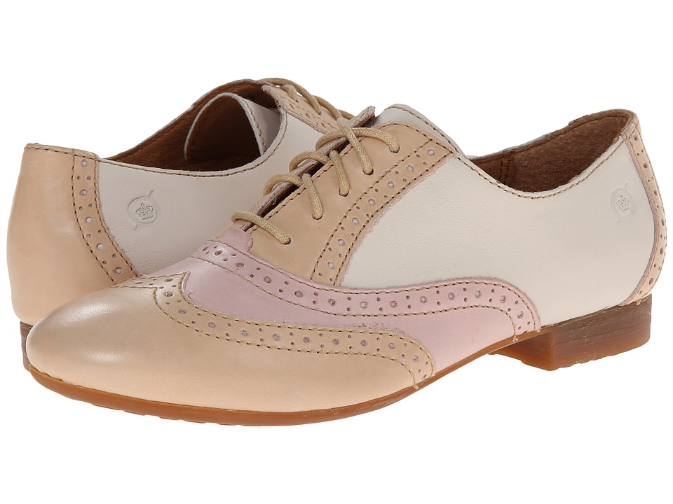 Born Bristol (Skin (Light Tan)/Rose (Pink)/Latte (Cream)) Women's Lace up casual Shoes