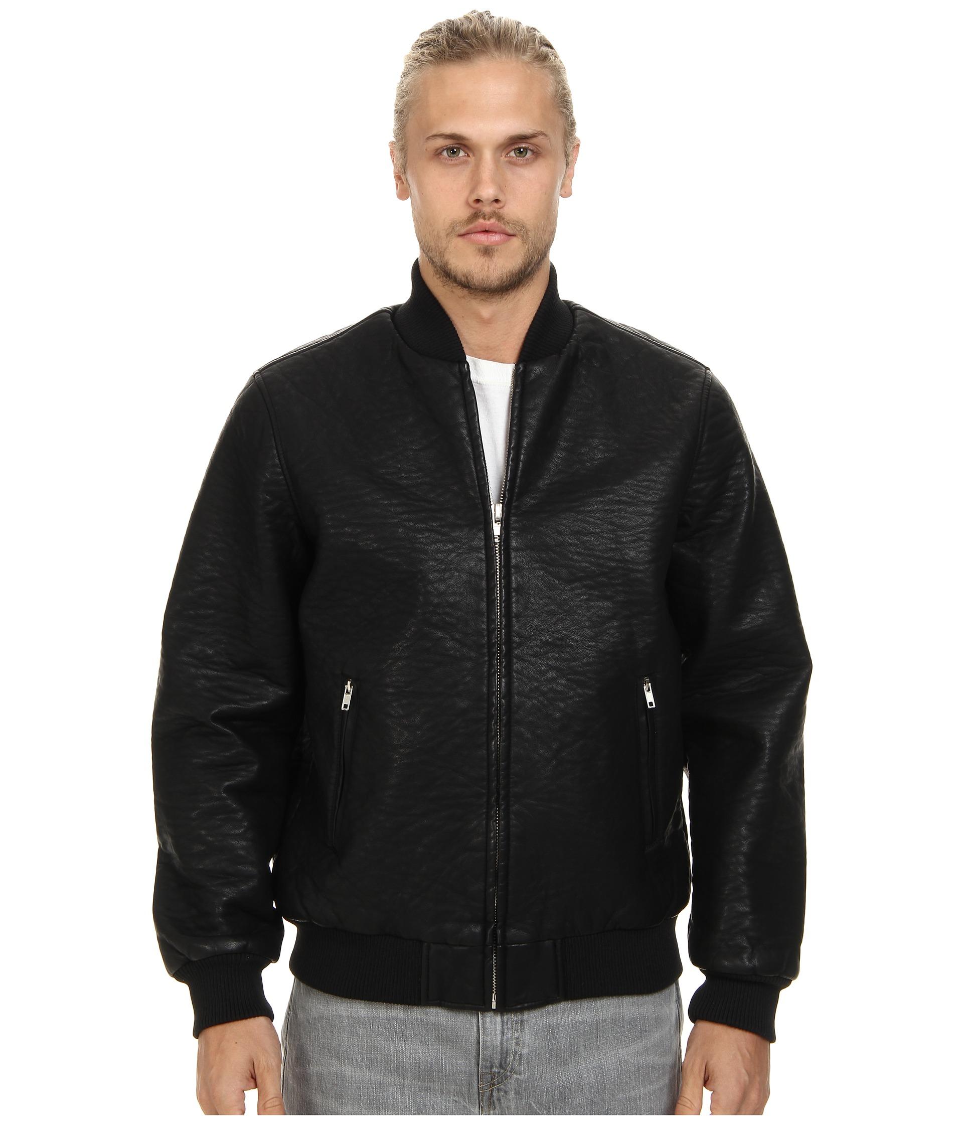 Obey Bond Vegan Leather Jacket $67.99 (50% off MSRP $136.00