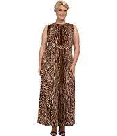 MICHAEL Michael Kors - Plus Size Mix Print Studded Maxi Dress