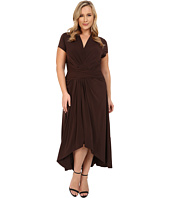 MICHAEL Michael Kors - Plus Size Cap Sleeve Maxi Wrap Dress