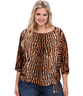 MICHAEL Michael Kors - Plus Size Mixed Print Batwing Top