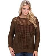 MICHAEL Michael Kors - Plus Size L/S Hi/Lo Hem Sweater