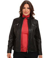 MICHAEL Michael Kors - Plus Size Zip Pocket Leather Jacket