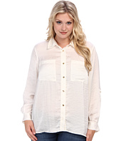MICHAEL Michael Kors - Plus Size High-Low Button Down Shirt