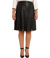 Calvin Klein Plus - Plus Size PU & Chiffon Skirt