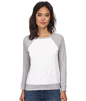 Christin Michaels - Lace Sweaterknit Top