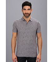 John Varvatos Star U.S.A. - Striped Soft Collar Peace Polo AWT9B