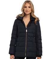 MICHAEL Michael Kors - Trench w/ Cinch Detail and Faux Fur Hood
