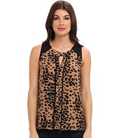 Vince Camuto - Animal Dashes S/L Center Seam Blouse