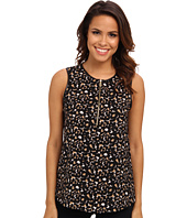 Vince Camuto - Sweeping Leopard S/L Top w/ Pleather Trim