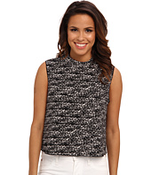 Vince Camuto - S/L Graphic Flutter Moch Neck Crop Shell