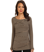 Vince Camuto - L/S Mini Stripe Bandage Top
