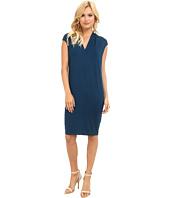 Three Dots - V-Neck Seamed Dress