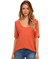 Three Dots - S/S Wide Scoop Top