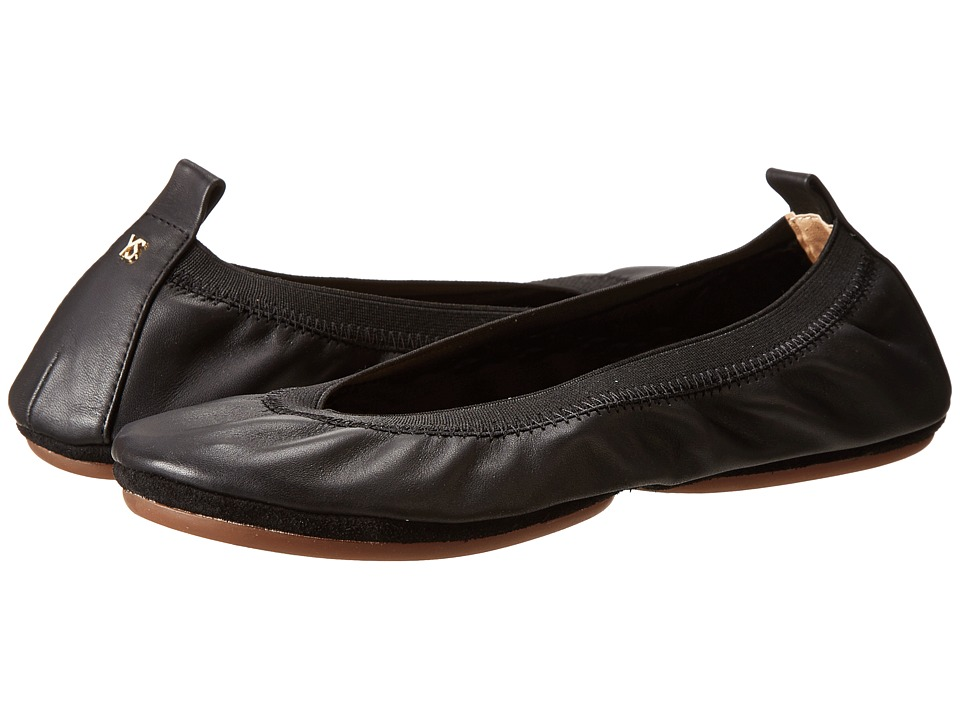 Yosi Samra Alsina Leather Ballet Flat Black Womens Flat Shoes