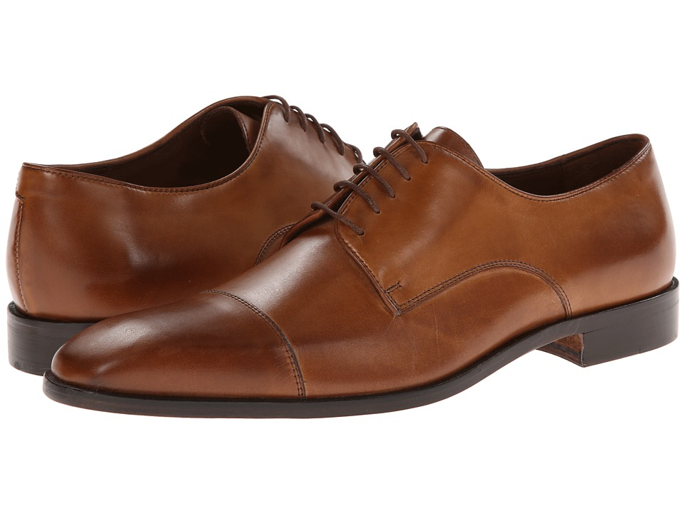 Massimo Matteo 5-Eye Cap Toe (Brandy/Burnish Toe) Men
