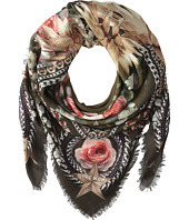 Givenchy - Paradise Flowers Silk Wool Scarf