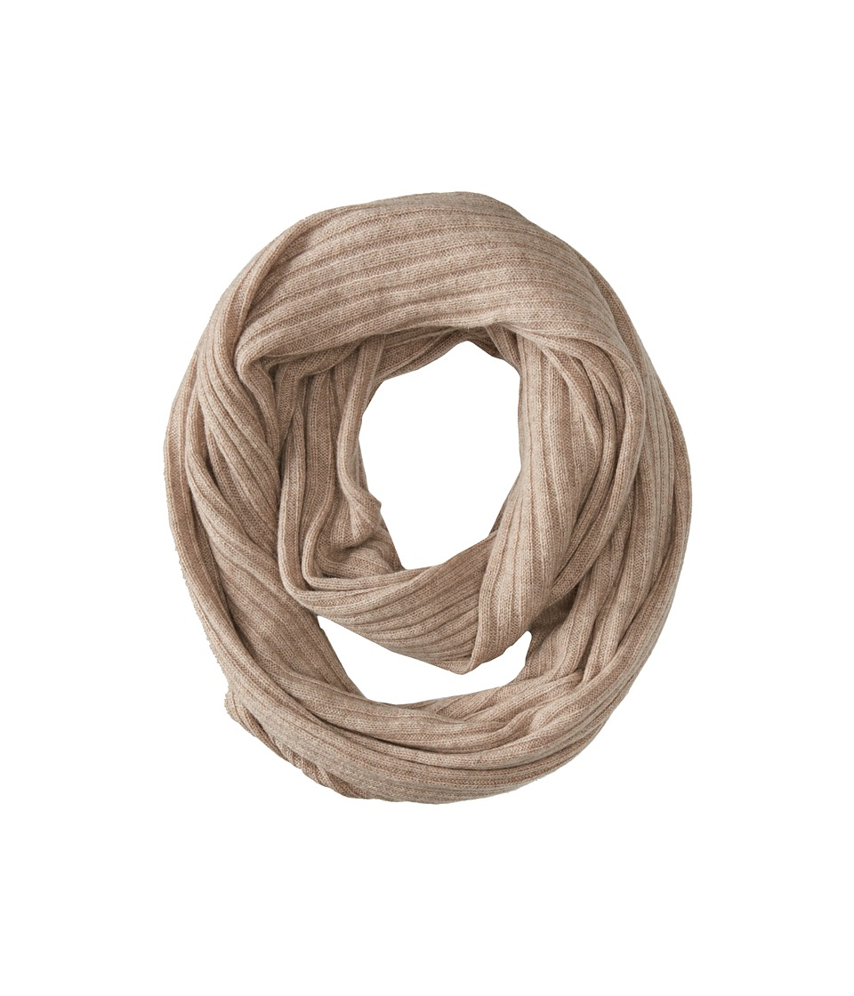 Brigitte Bailey Diana Ribbed Cashmere Infinity Scarf (Oatmeal) Scarves