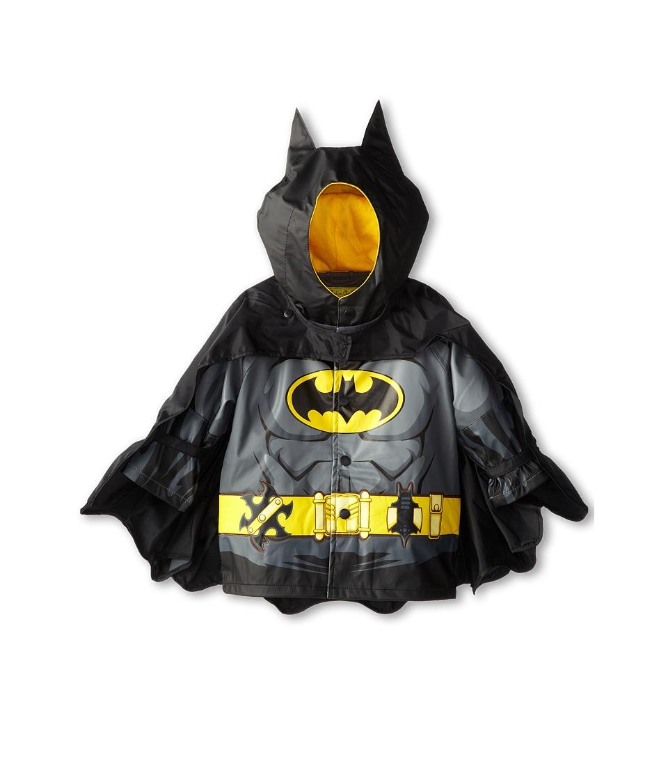 Western Chief Kids - Batmantm Caped Crusader Raincoat (Toddler/Little Kids) (Black FA14) Boys Coat
