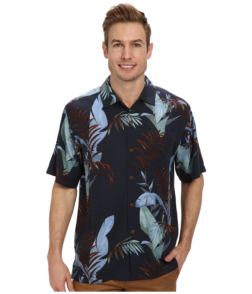Image of Tommy Bahama The Frond-Tier S/S Button Up (Neptune) Men's Short Sleeve Button Up