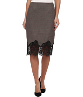 Vince Camuto - Side Zip Pencil Skirt w/ Lace Trim
