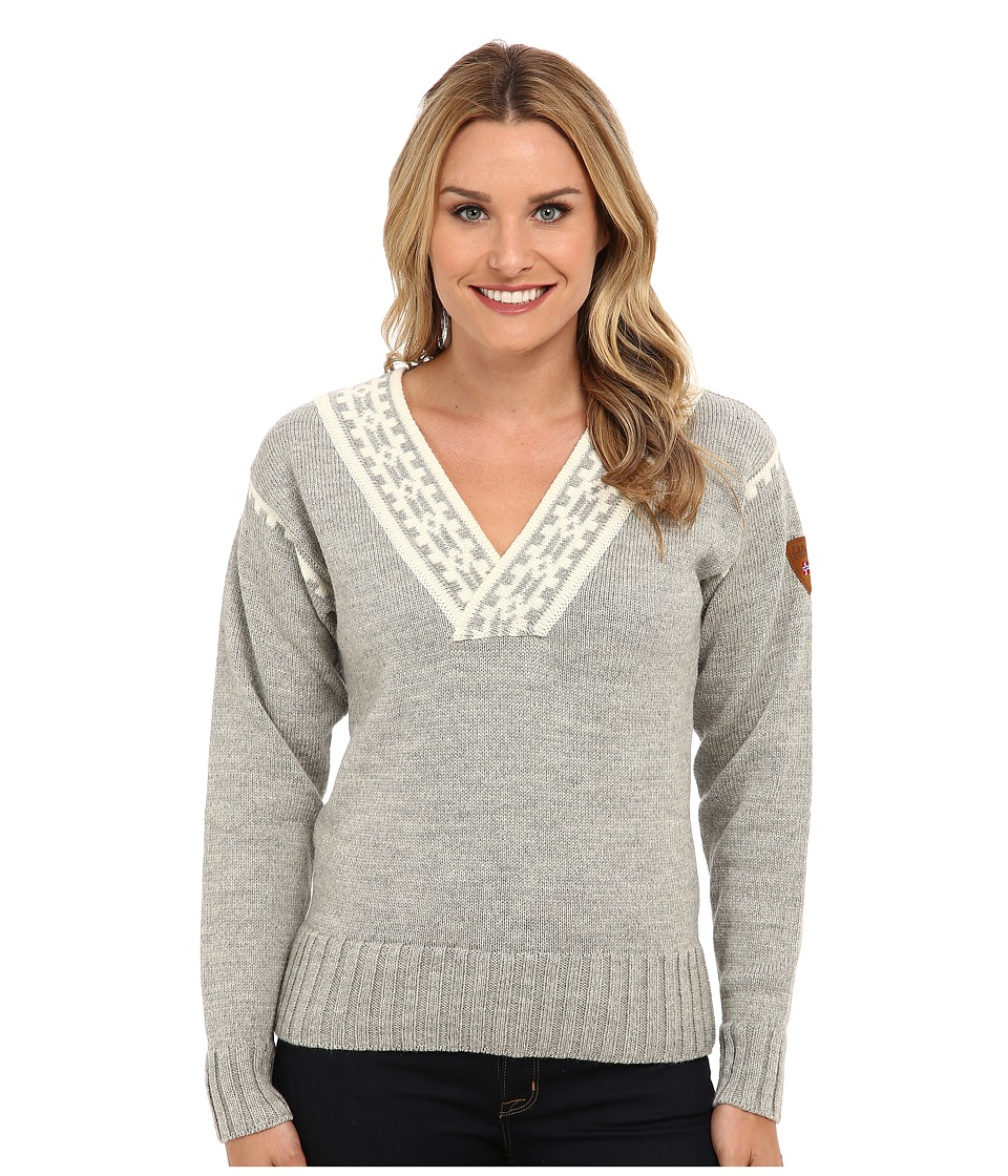 Dale of Norway - Alpina Feminine Sweater (Light Charcoal/Cream) Womens Sweater