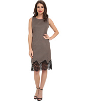 Vince Camuto - S/L Shift Dress w/ Lace Trim