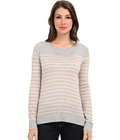 Vince Camuto - L/S Stripe Crew Neck Sweater