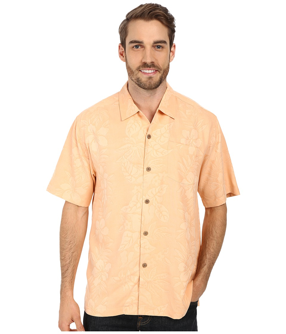 Tommy Bahama - Palms Over Paradise SS Shirt Fresh Salmon Mens Clothing $110.00 AT vintagedancer.com
