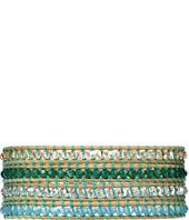 Chan Luu - 32' Green Mix/Beige Swarovski Wrap Bracelet