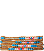 Chan Luu - 32' Turquoise Mix/Beige Seed Bead Wrap Bracelet