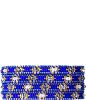 Chan Luu - 32' Blue Mix/Beige Wrap with Stainless Steel Bracelet
