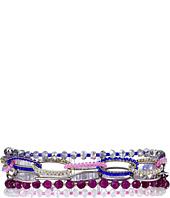 Chan Luu - 6 3/4 Purple Mix Adjustable Multi Single Bracelet