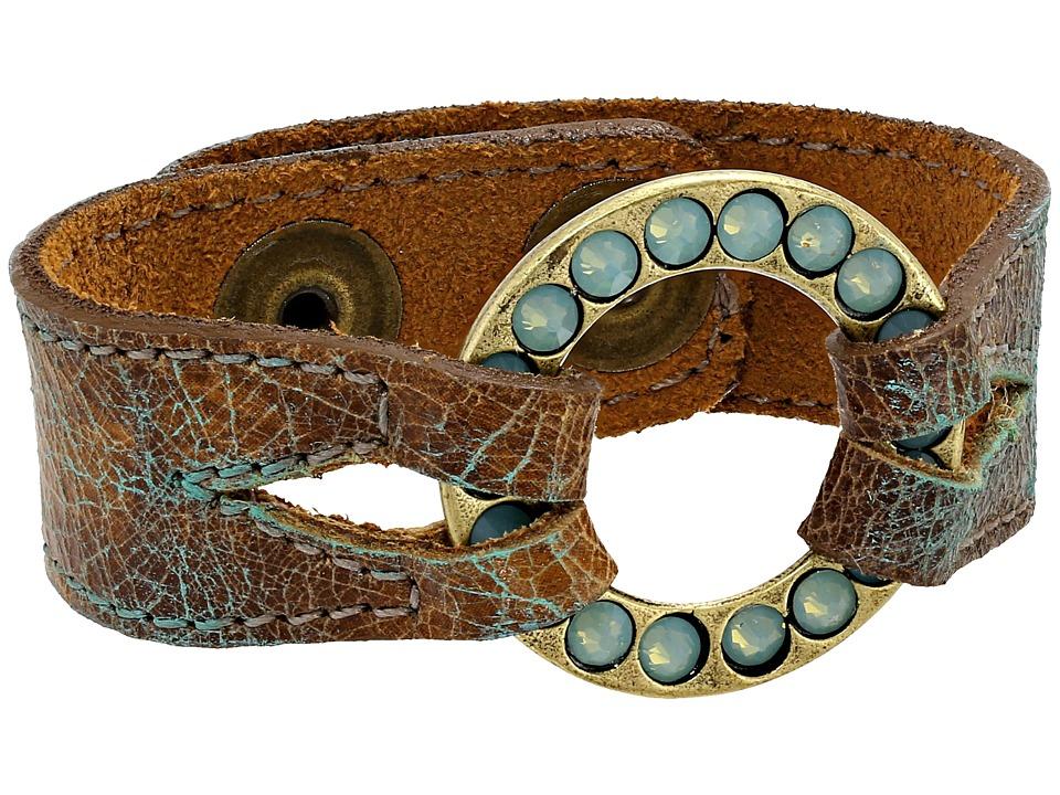 Leatherock - B637 (Dakota Patina/Amber) Bracelet