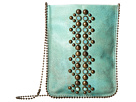 Leatherock Cell Pouch/Crossbody (Turquoise/Amber)