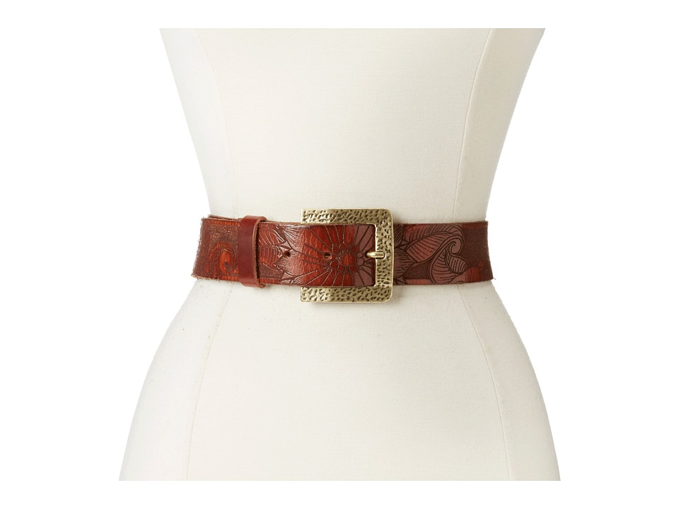 Leatherock 1102 Brown Laser Womens Belts