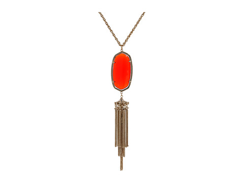 Kendra Scott Rayne Necklace - Gold/Bright Red Opaque Glass