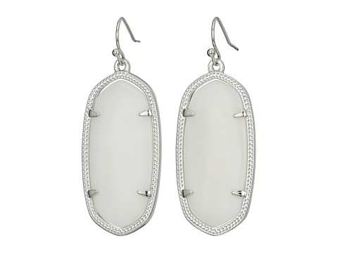 Kendra Scott Elle Earring - Rhodium/White Mother of Pearl