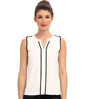Calvin Klein - Sleeveless V Neck Piping Top