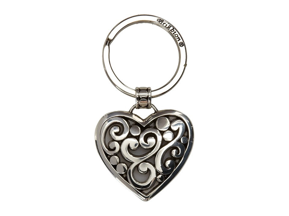 Brighton - Contempo Heart Key Fob (Silver) Pendants Pins
