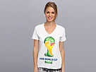 adidas - Ultimate World Cup Brazil V-Neck Tee (White)