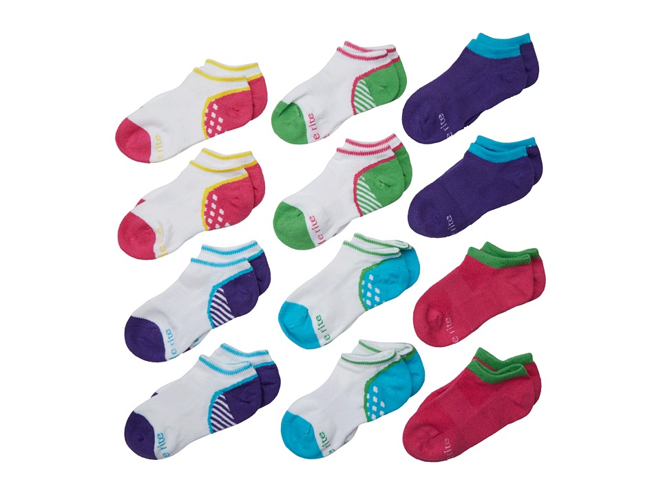 Stride Rite Alliy May 12 Pack Athletic No Show Infant/Toddler/Little Kid/Big Kid Assorted Bright Girls Shoes