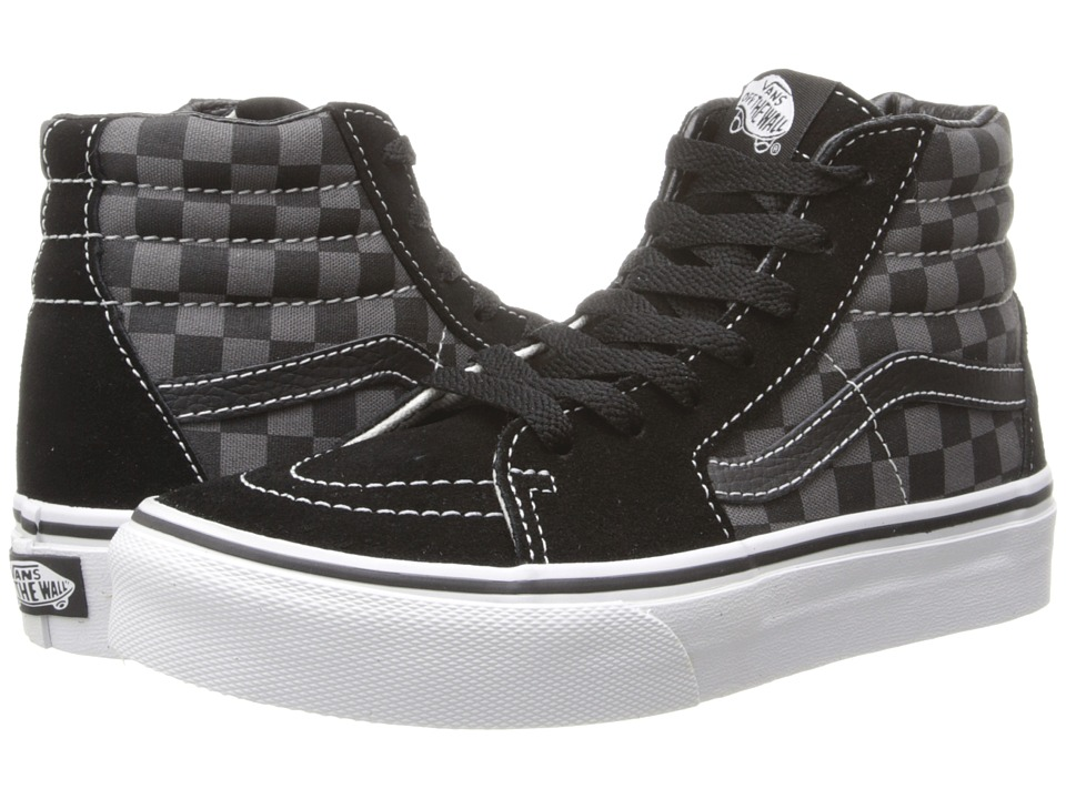 Vans Kids - SK8-Hi (Little Kid/Big Kid) ((Checkerboard) Black/Pewter) Kids Shoes