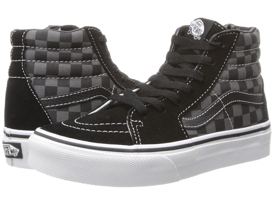 Vans Kids - SK8-Hi (Little Kid/Big Kid) ((Checkerboard) Black/Pewter) Kids Shoes